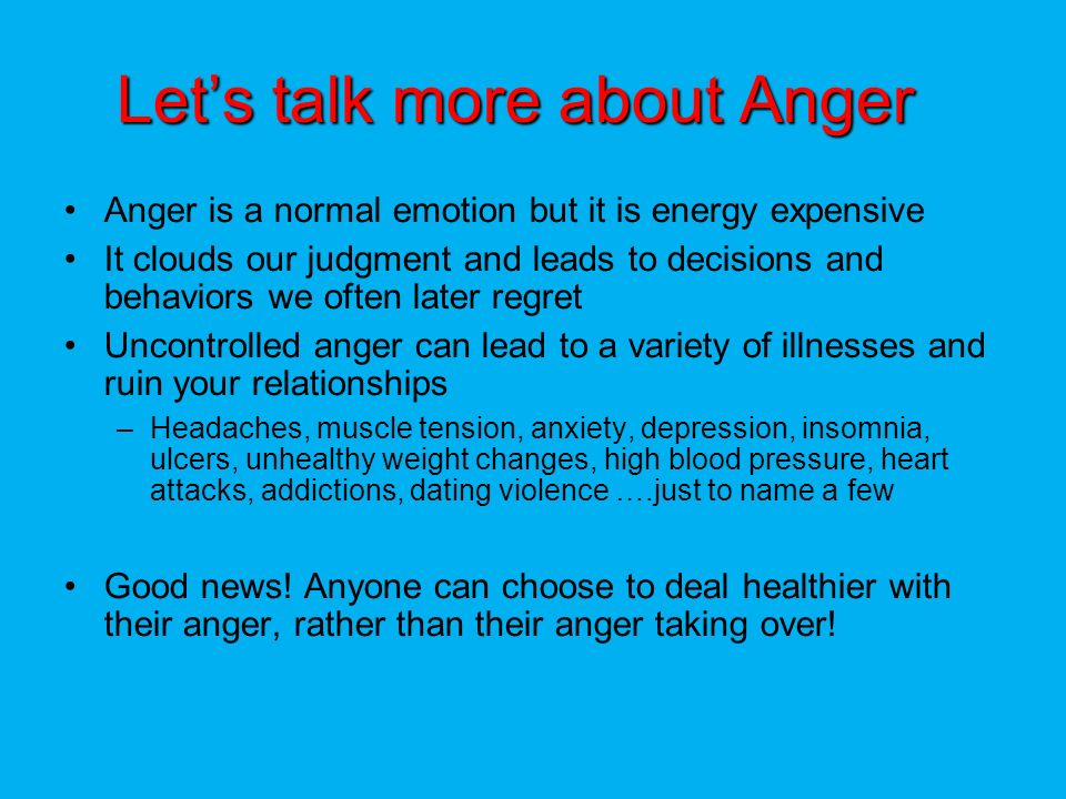 Uncontrolled anger relationships dating
