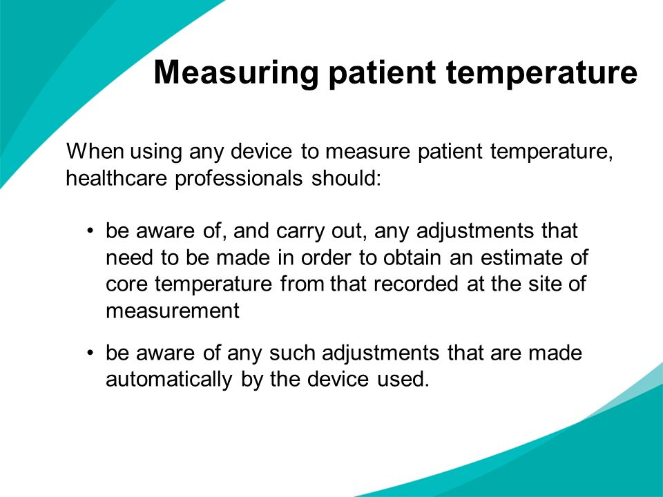Measuring patient temperature