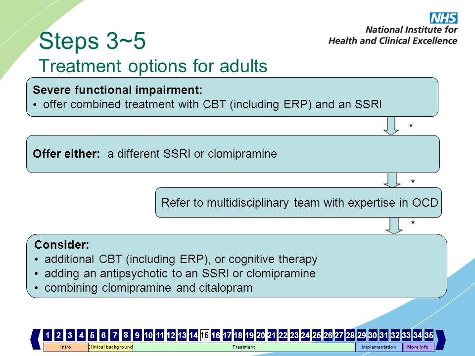 Steps 3~5 Treatment options for adults