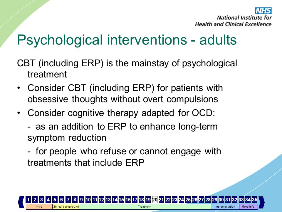 Psychological interventions - adults