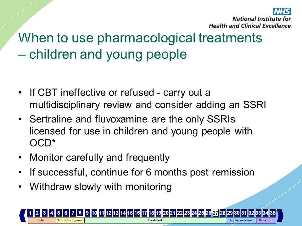 When to use pharmacological treatments – children and young people