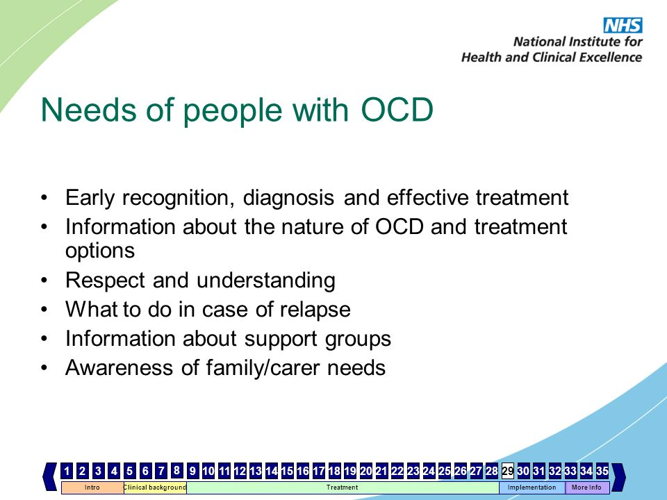 Needs of people with OCD