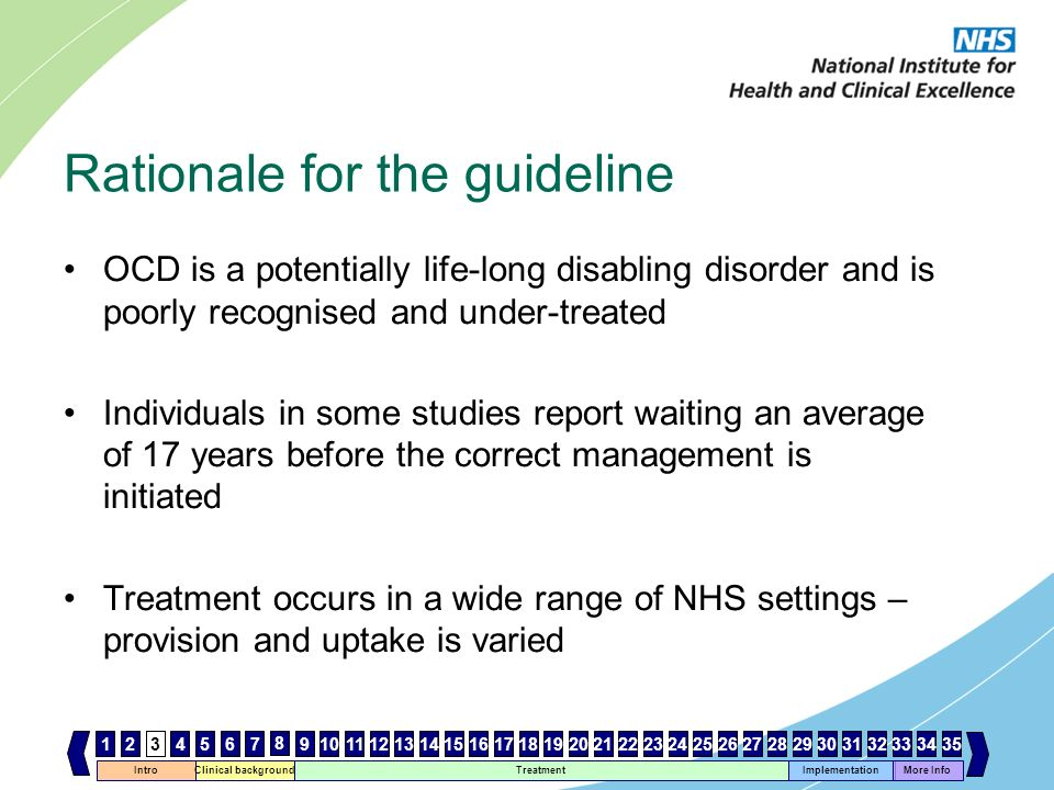 Rationale for the guideline