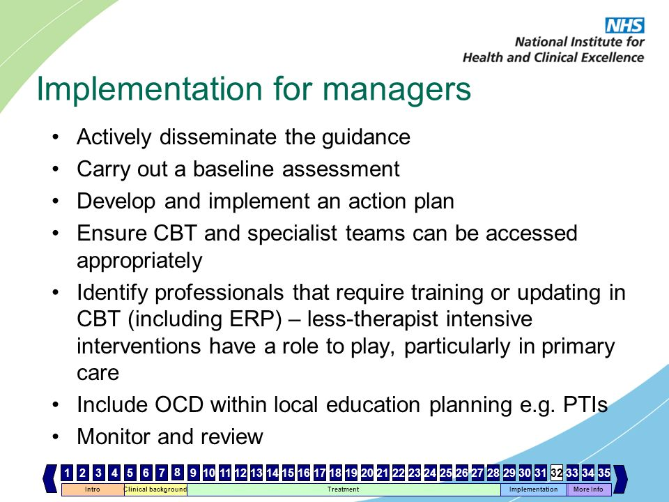 Implementation for managers