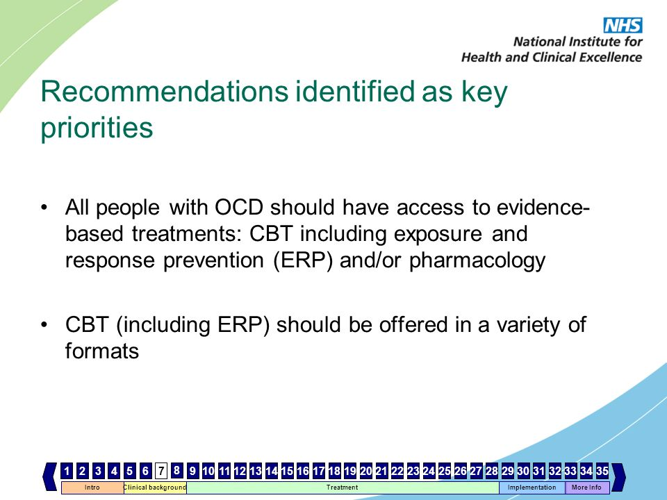 Recommendations identified as key priorities