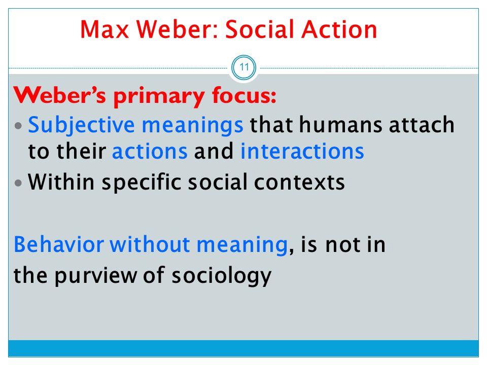 max weber social action theory summary