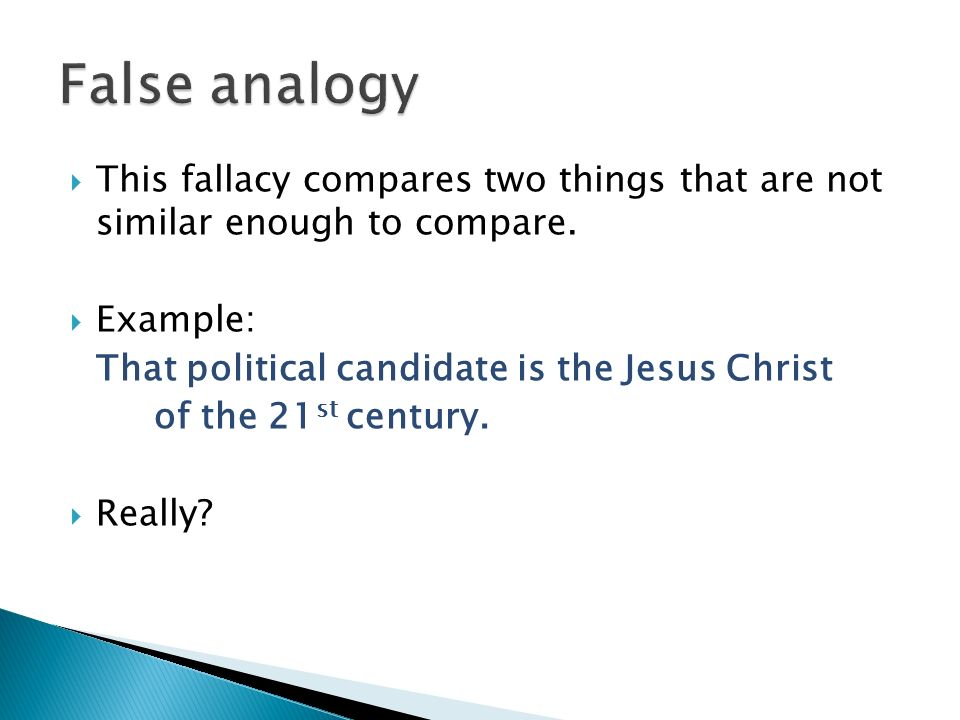 Invalid Analogy Fallacy Examples Gallery Example Cover Letter For