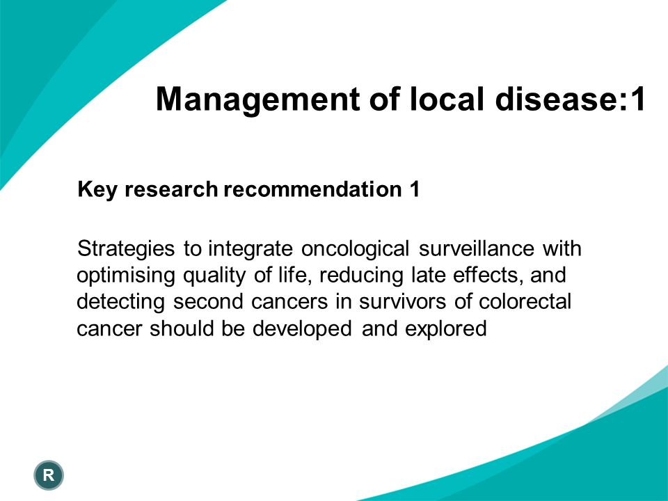 Management of local disease:1