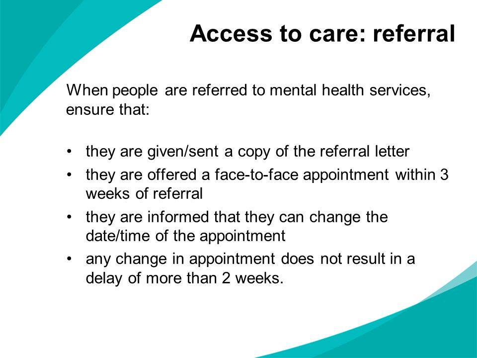 Access to care: referral