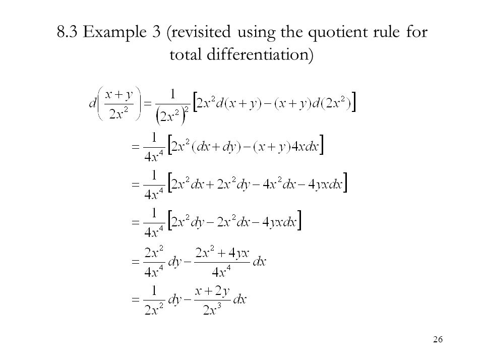 Solved: the small increments formula 8 implicit differenti.