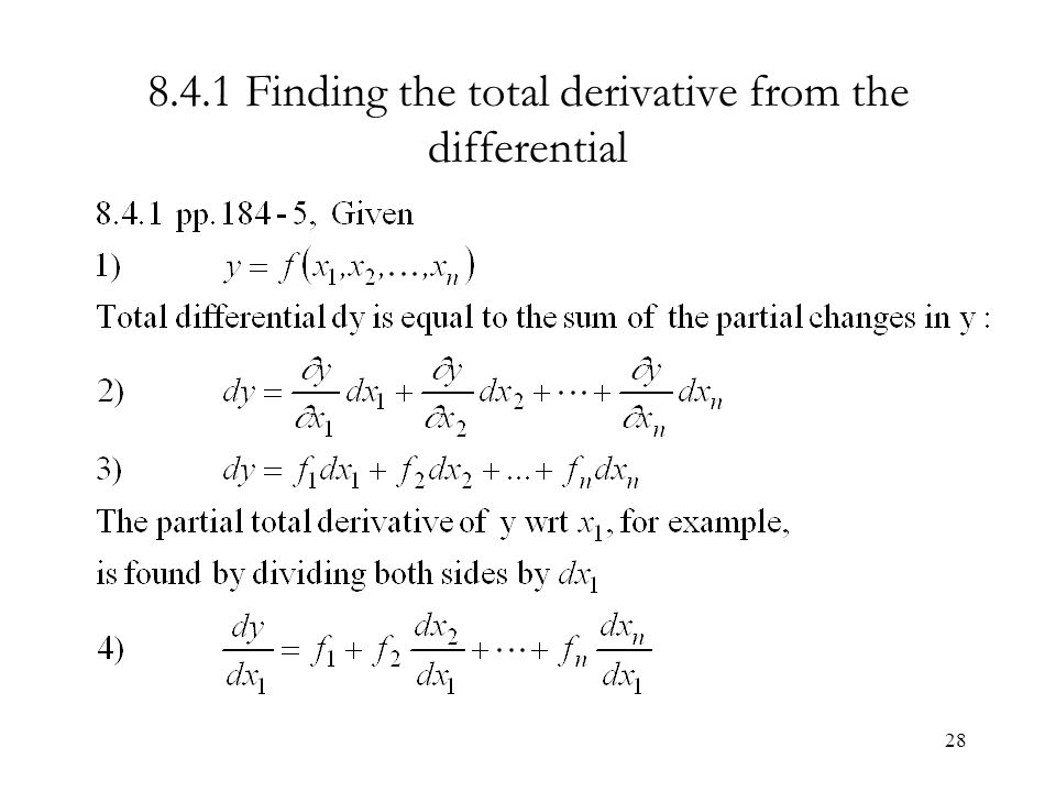 Finding the total differential of a multivariate function example.