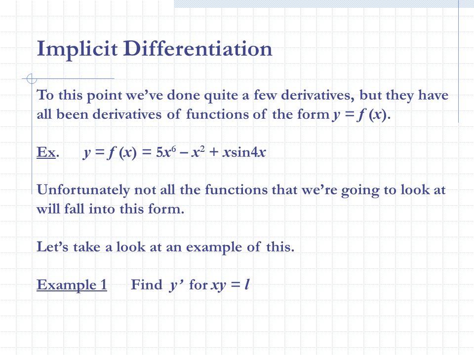 25 Implicit Differentiation Ppt Video Online Download