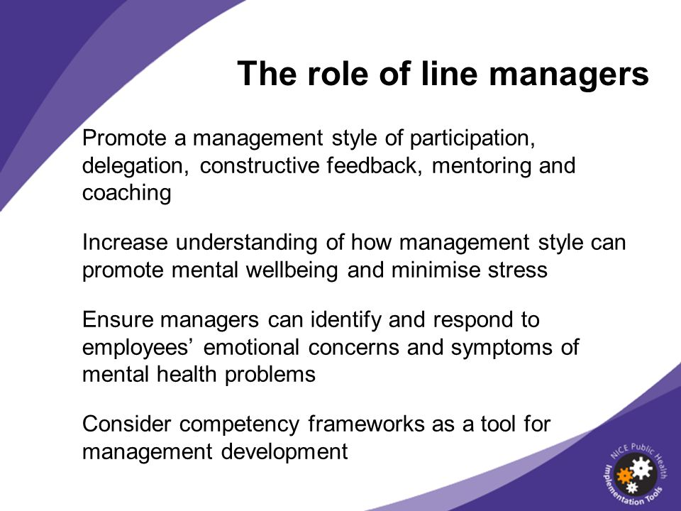 The role of line managers