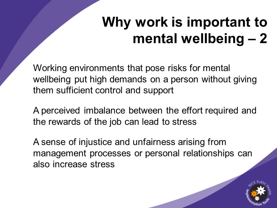 Why work is important to mental wellbeing – 2