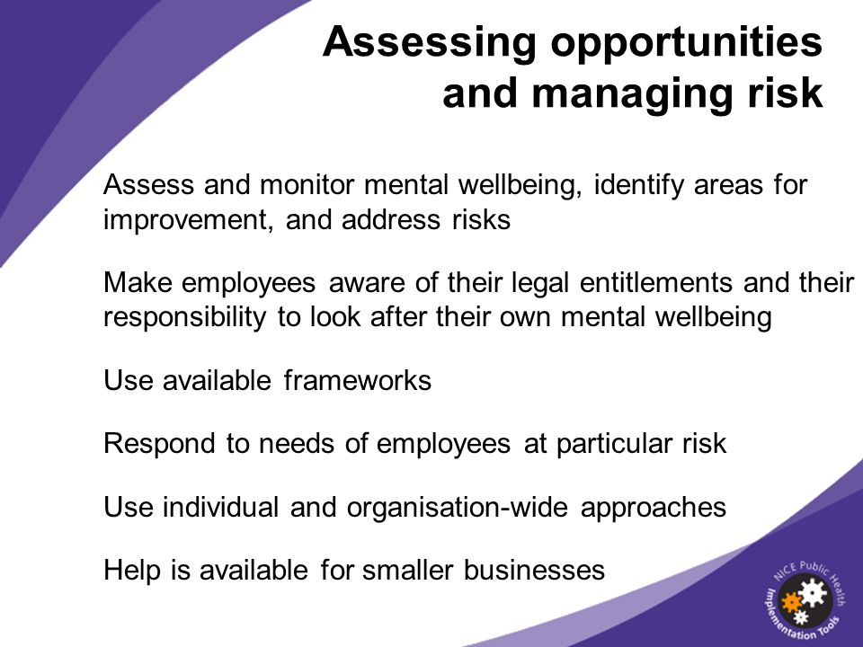Assessing opportunities and managing risk