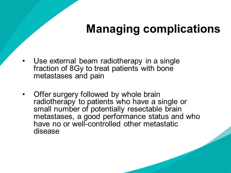 Managing complications