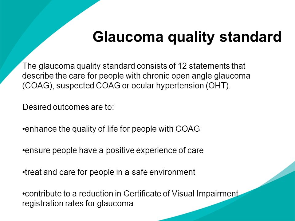 Glaucoma quality standard