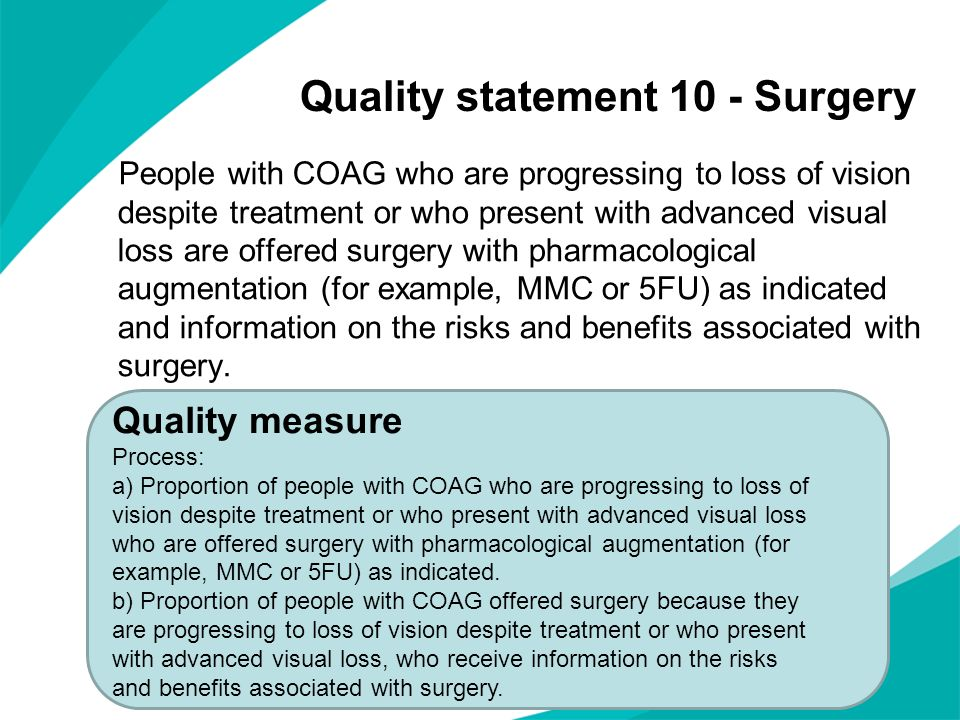 Quality statement 10 - Surgery