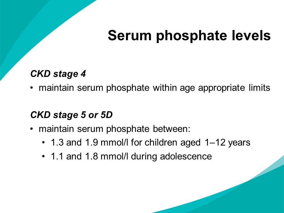 Serum phosphate levels
