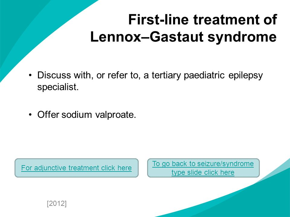 First-line treatment of Lennox–Gastaut syndrome
