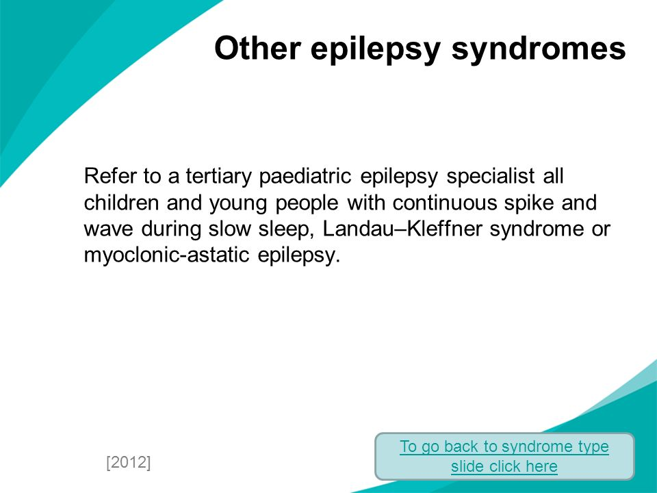 Other epilepsy syndromes