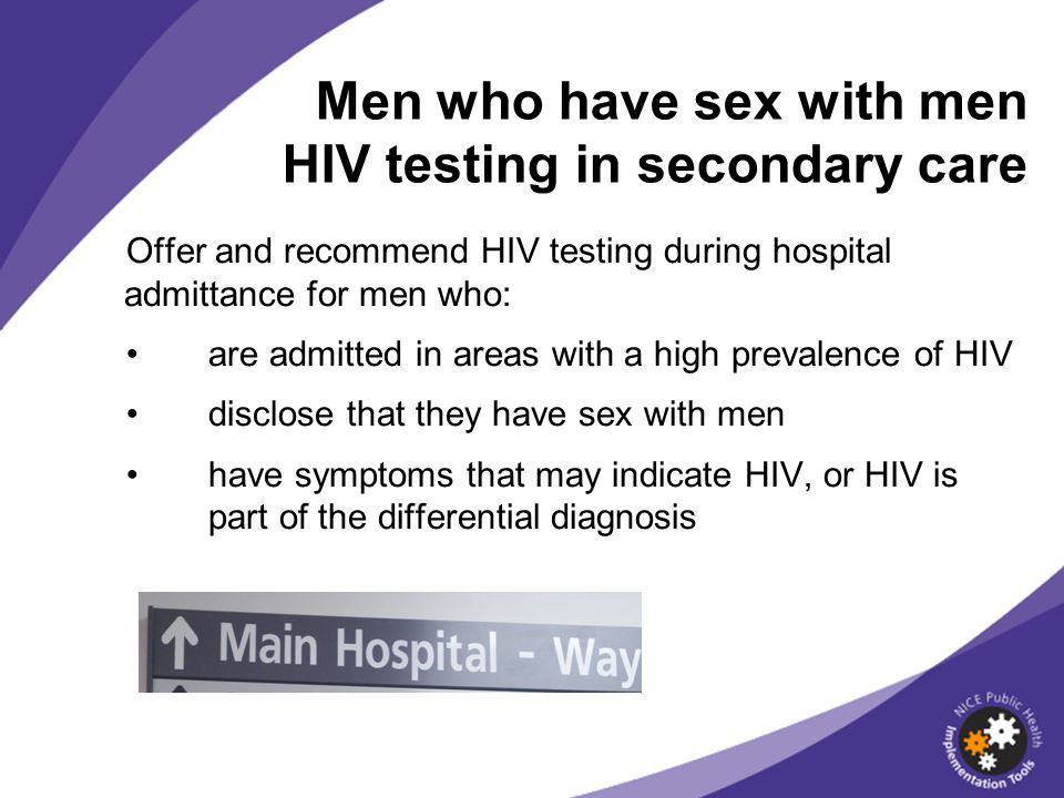 Men who have sex with men HIV testing in secondary care