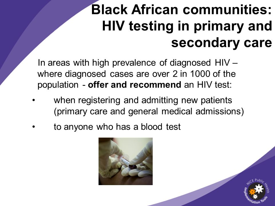 Black African communities: HIV testing in primary and secondary care
