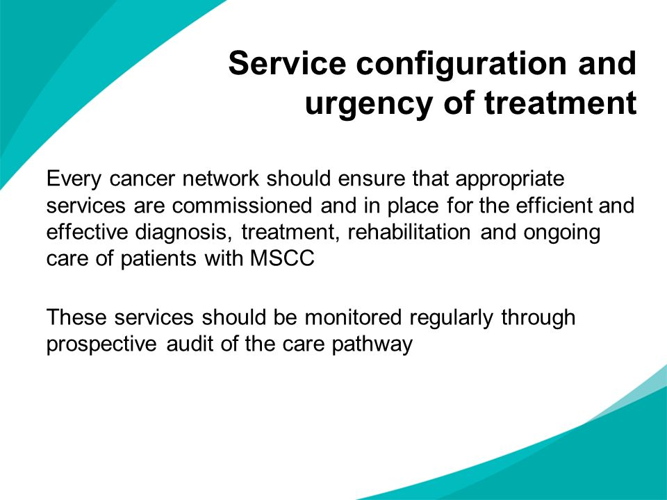 Service configuration and urgency of treatment