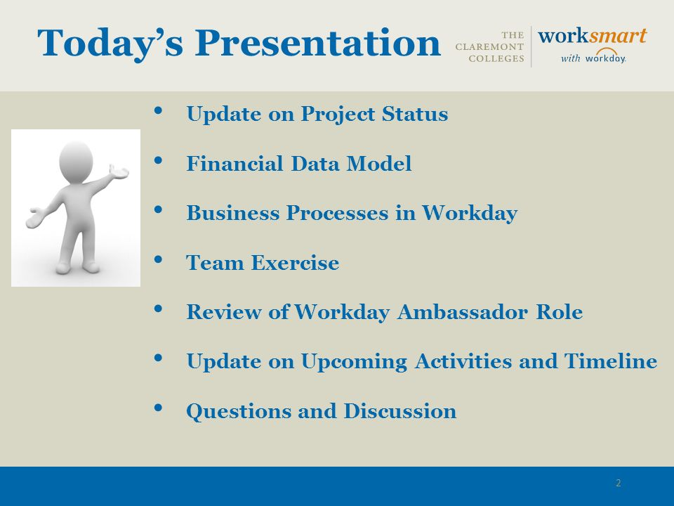 Workday Financials Implementation Project Workday
