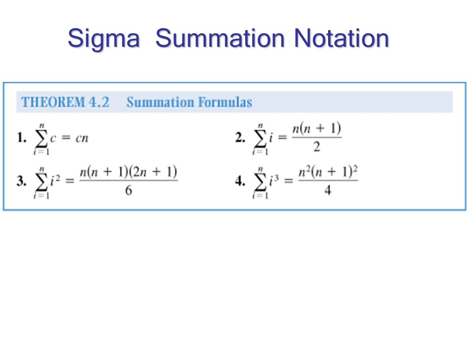 Sigma Summation Notation