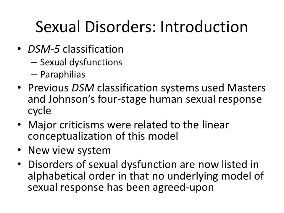 Sexual dysfunction according dsm-5