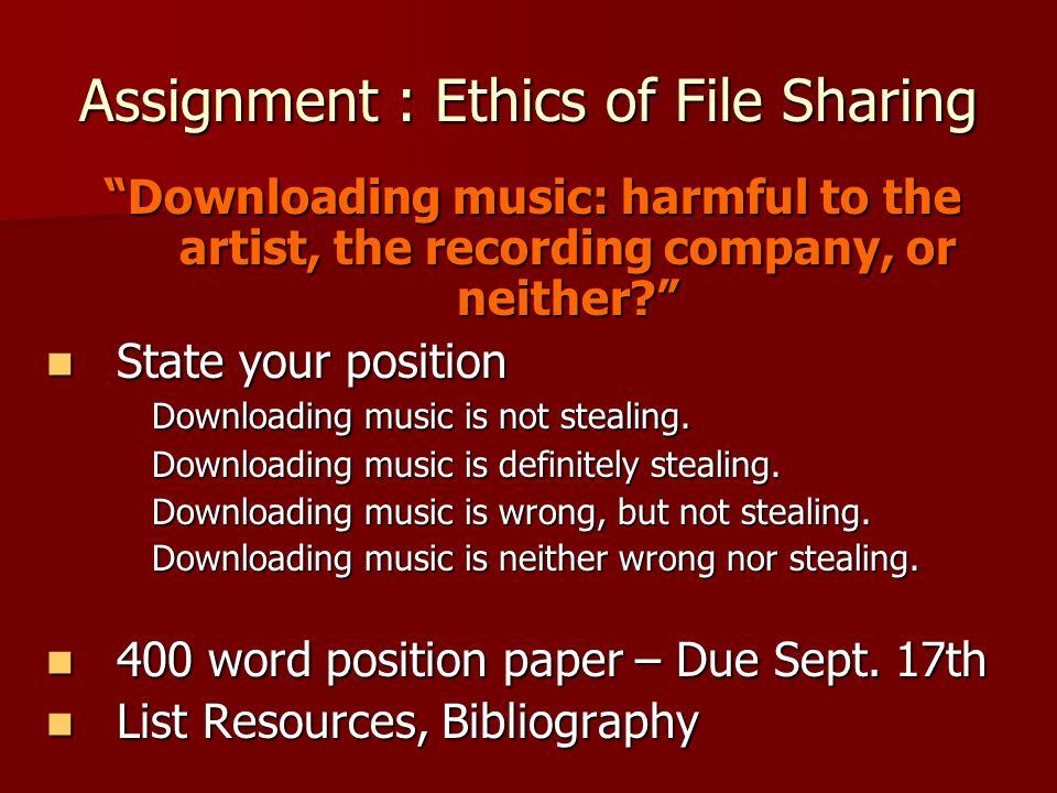 ethics of downloading music