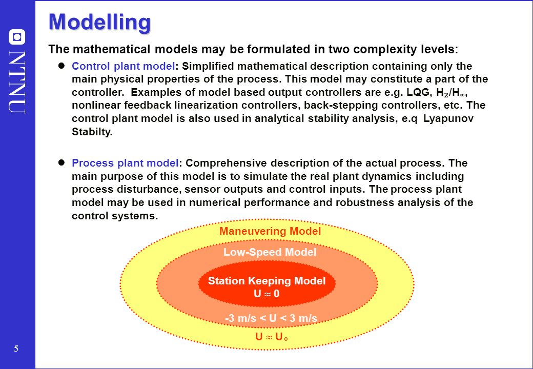 Mathematical Modelling of Dynamically Positioned Marine