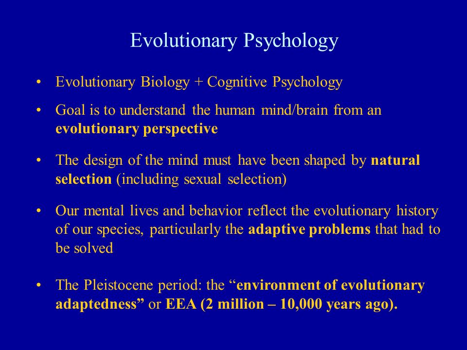 Evolutionary Psychology Ppt Video Online Download