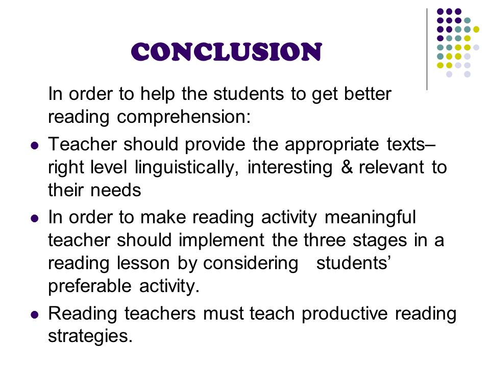 A PERSPECTIVE IN TEACHING READING: HELPING STUDENTS TO GAIN