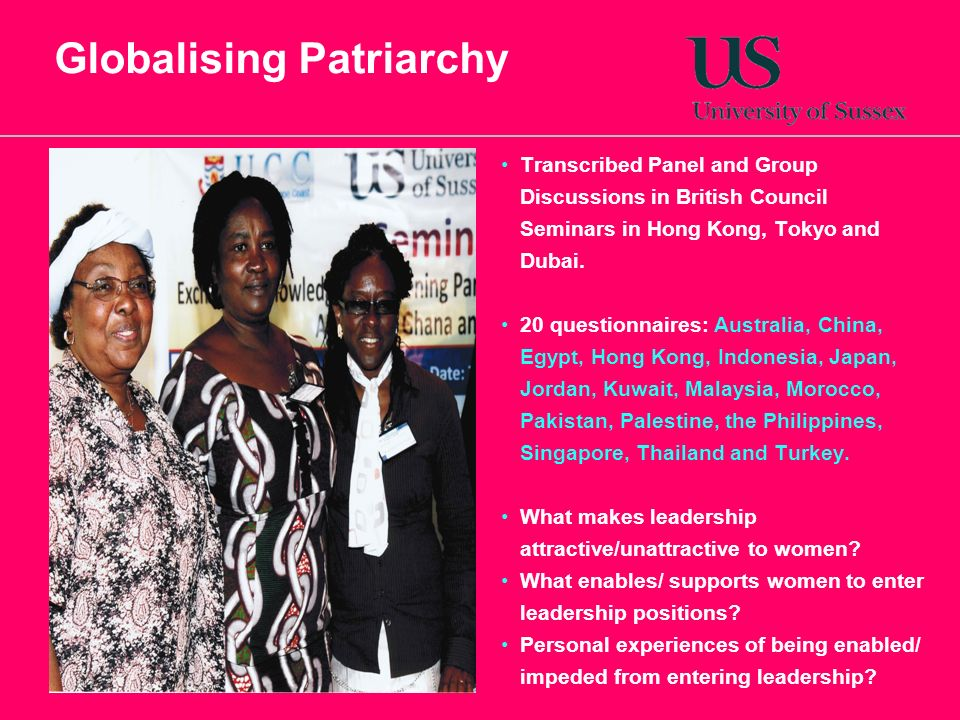 Globalising Patriarchy