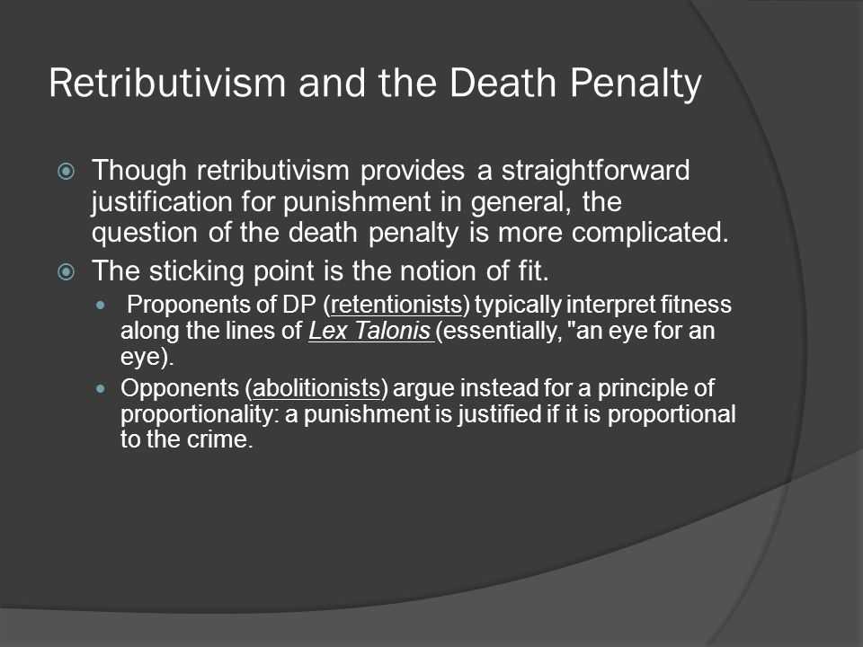 utilitarian approach to capital punishment