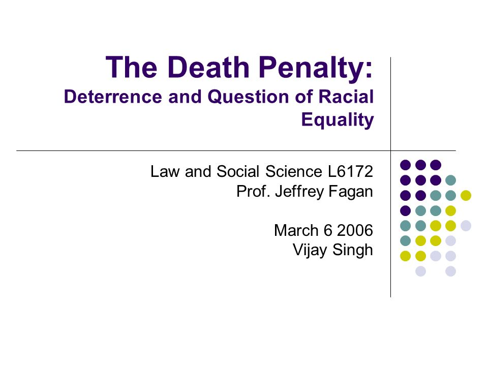 the death penalty and deterrence The death penalty, both in the us and around the world, is discriminatory and is used disproportionately against the poor, minorities and members of racial, ethnic and religious communities.