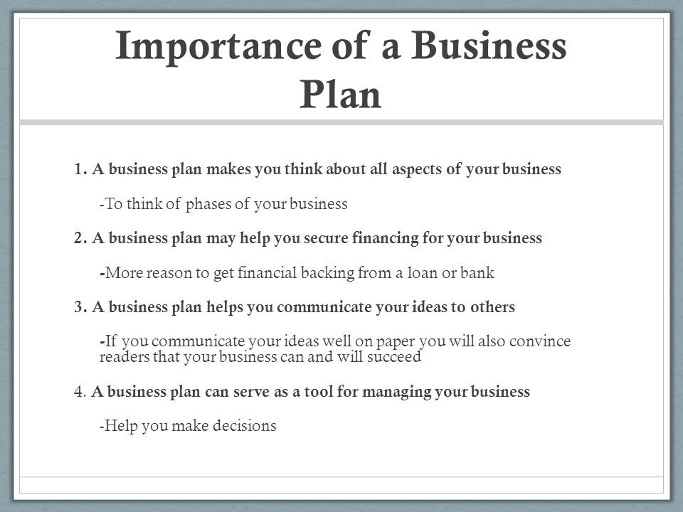 Create A Business Plan That Helps Articulate Your Vision Effectively