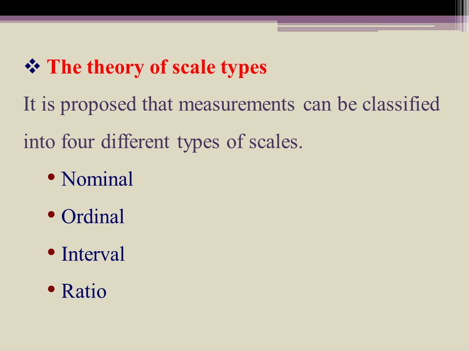The theory of scale types