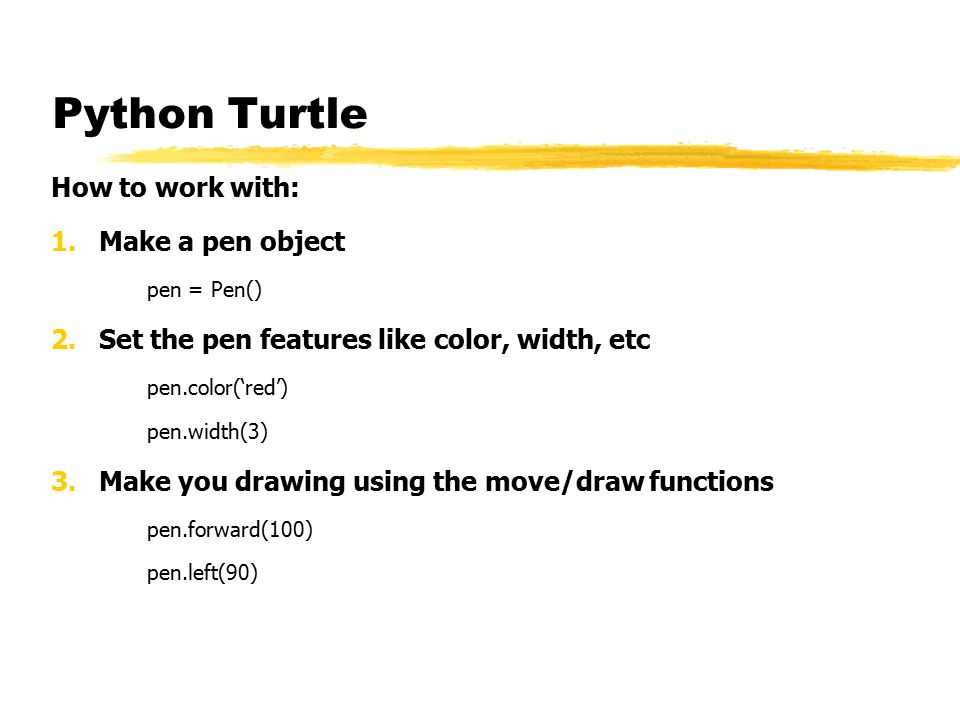 Main Points Python Turtle Fractals Ppt Video Online Download