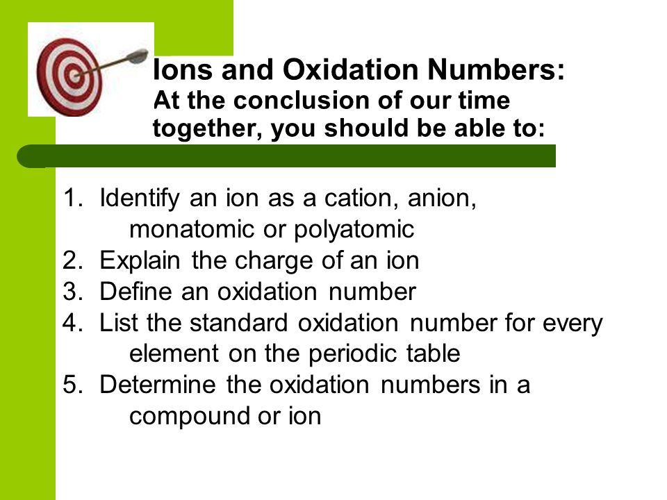 Ions and oxidation numbers ppt download ions and oxidation numbers at the conclusion of our time together you should be urtaz Images