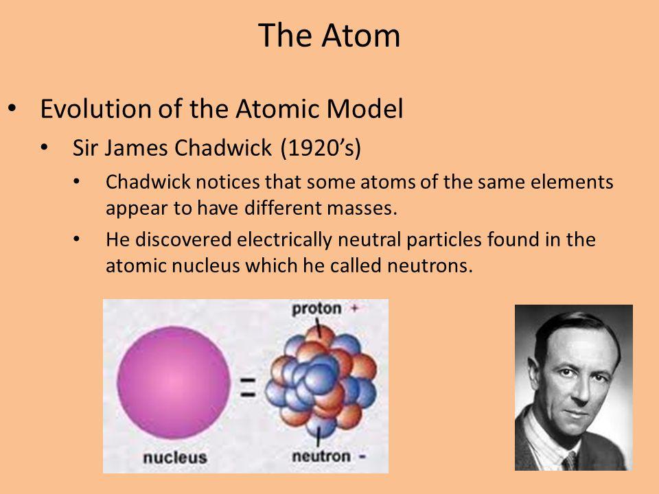 Chadwick Model Atom