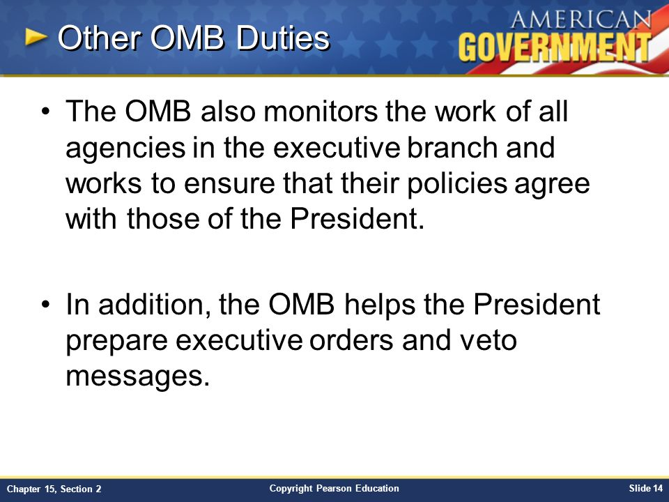 Other OMB Duties