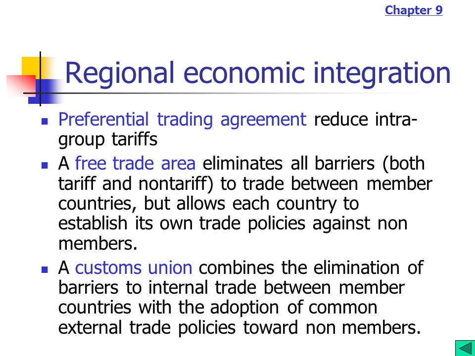 Chapter 9 Economic Integration Ppt Video Online Download