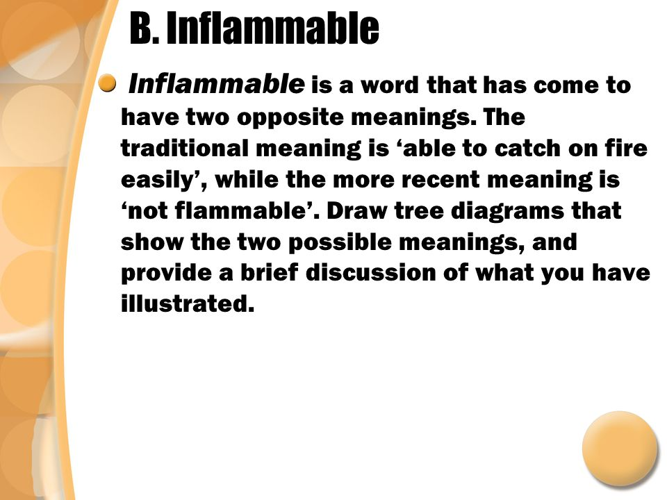 Word trees and meaning ppt video online download 4 b inflammable ccuart Images