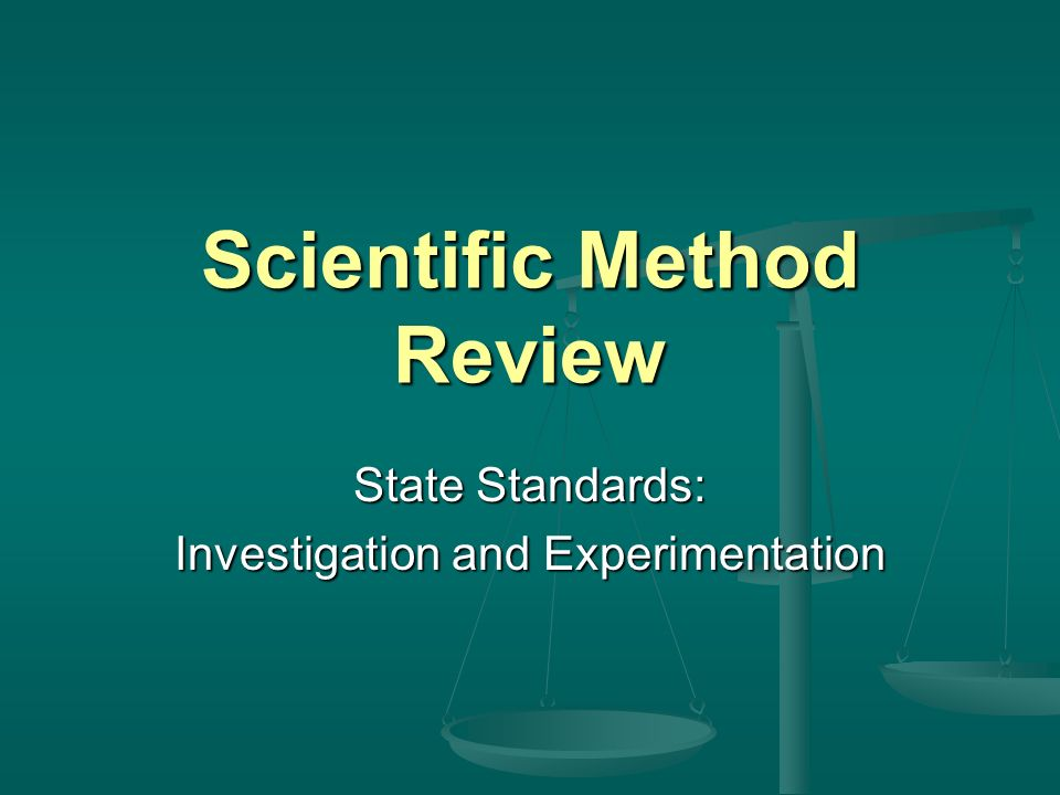 Scientific Method Review