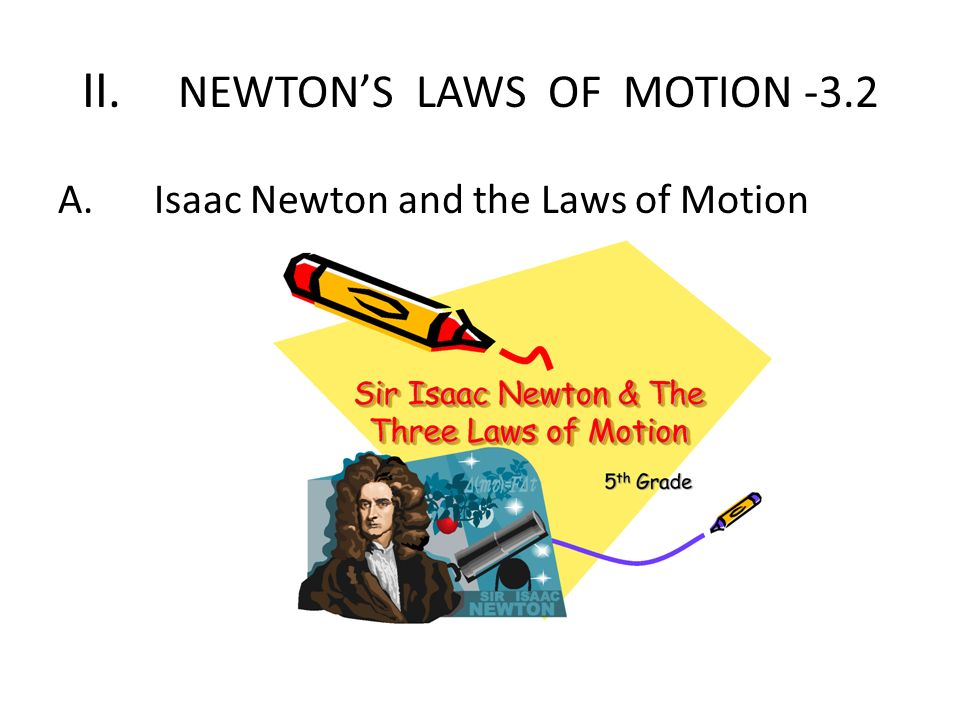 II. NEWTON'S LAWS OF MOTION -3.2