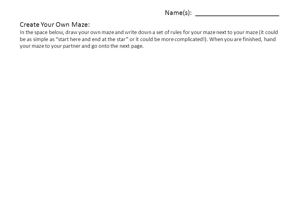 Problem Solving and Mazes - ppt video online download