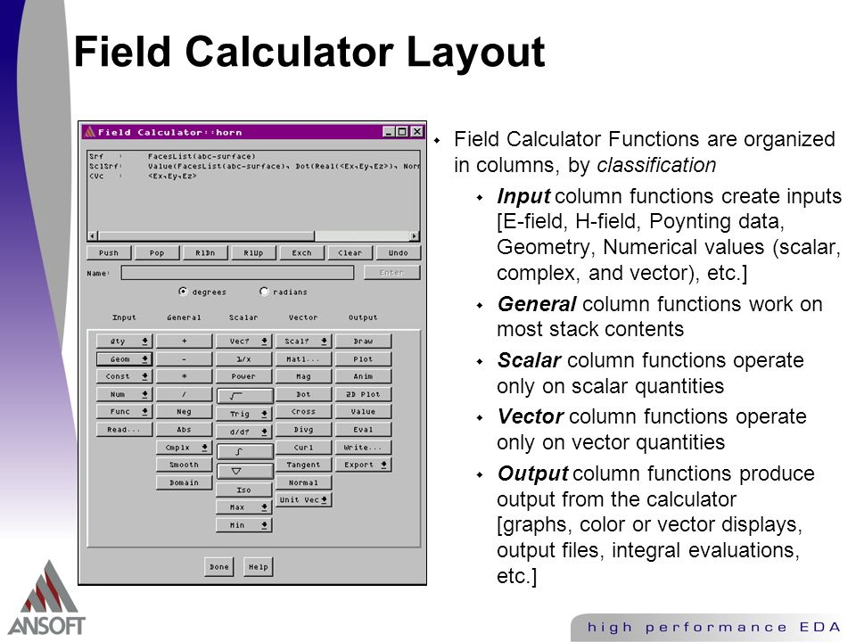 Ansoft HFSS 3D Post Processor and Calculator - ppt video online download